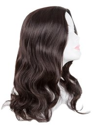 Wholesale Carnival Wig Fei Show Synthetic Heat Resistant Medium Dark Brown Middle Part Line Curly Hair Costume Cosplay Halloween Hairpiece