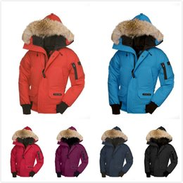 Discount jacket hat baby - 2018 Hot Sale canada Brand logo Winter Down Coats Child Down Jackets Baby Boy girl Kids Thicken Fur Hooded Parkas women