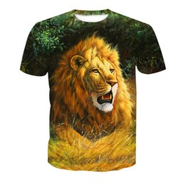 aaaa0a91 Wholesale Free Shipping Hot Sell Couple Casual T-shirt Lion Wolf 3D Heat  Press Printing Hip Hop Tops Tees