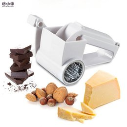Discount hand drums - 2017 New hot Promotion Plastic Hand-cranked Drum Cheese Grater Rotary Ginger Slicer Grater for Chocolate