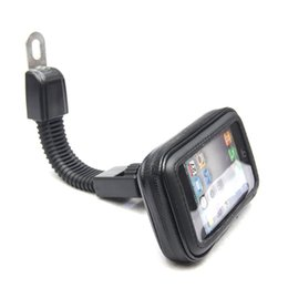 Iphone5 Case Stand Australia - Waterproof Motorcycle Motorbike Scooter Mobile Phone Holder Bag Case for iPhone5 6 7 Samsung etc Rearview Mirror Stand