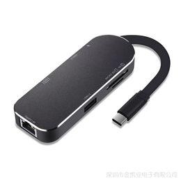 GiGabit ethernet adapters online shopping - 7 in USB Hub Multifunction USB C Hub with Type C K HDMI HD Video Gigabit Ethernet Adapter USB USB C Type C HUB