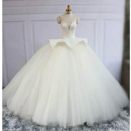 sweetheart ball gown princess wedding dresses NZ - Real Photo Ball Gown Wedding Dresses Sweetheart Satin Tulle Floor Length Overskirt 2019 Princess Style Bridal Gowns Custom Made