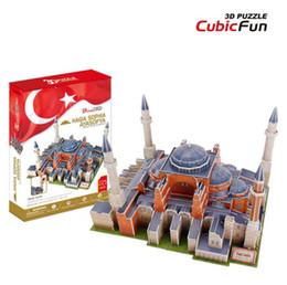 Discount 3d papers models - MC134H Hagia Sophia Ayasofya CubicFun 3D puzzle Diy Paper Model architectural model Papercraft Home Adornment for christ