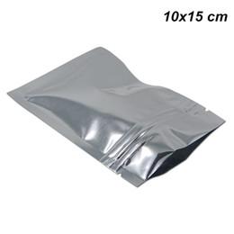 ziplock plastic bags food grade 2019 - Silver 10x15 cm Reclosable Aluminum Foil Mylar Ziplock Food Preparation Equipment Mylar Foil Zipper Smell Proof Food Gra