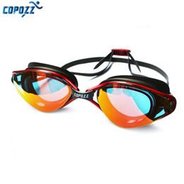 Venta al por mayor de Copozz Nueva Profesional Anti-Niebla Protección UV Gafas de Natación Ajustable Hombres Mujeres Gafas de silicona a prueba de agua para adultos Gafas