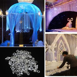 Crystal beads wedding deCorations online shopping - Home Acrylic30pcs Wedding Decoration Crystals Acrylic Octagonal Beads String Prisms Garland Chandelier Hanging Curtain For Party