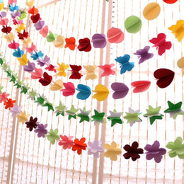 Discount paper hanging flowers tissue paper hanging flowers 2018 paper hanging flowers 2018 5pcs set three dimensional paper pull flower streamers birthday wedding mightylinksfo