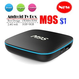 Flash google online shopping - Original M9S S1 Android TV Box GB GB eMMC Flash k Allwinner H3 Streaming Media Player BETTER Amlogic S905W TX3 H96 X96 MINI T95Z S8