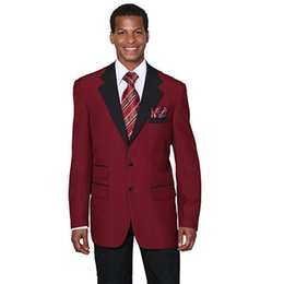 $enCountryForm.capitalKeyWord UK - Wine Red Men Suits for Wedding Custom Made Two-Button Notched Lapel Burgundy Groom Tuxedos Best Man Blazers 3 Pieces jacket Pants Vest