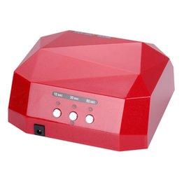 Ücretsiz Shing 36 W Otomatik sensör LED UV Tırnak Kurutucu Tırnak Lambası Elmas Şekilli CCFL Kür için UV Jel Çivi Lehçe Sanat Araçları