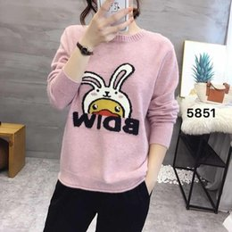 $enCountryForm.capitalKeyWord Canada - New winter pullovers female rabbits round collar short paragraph letter embroidery thin cute sweater sweater dress
