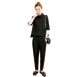 Wholesale AmberHeard Korean Summer Women Sporting Suit Short Sleeve Top Pants Swaetsuit Two Piece Set Tracksuit Outfit Women Clothing