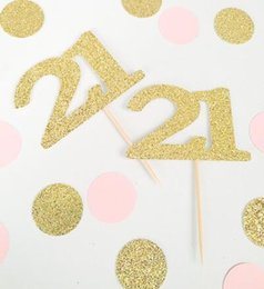 $enCountryForm.capitalKeyWord Australia - custom number glitter 30th 40th 50th 60th birthday cupcake toppers baptism Christening party decoration doughnut food picks