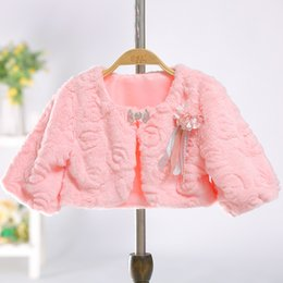Christmas Gifts Chinese Australia - 2018 Christmas Gift Girls' Capes And Jackets Fall Winter Faux Fur Keep Warm Kids Top Children Coat Formal Evening Party Wear Size S-3XL