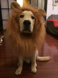 Discount dogs wigs Lion Mane Costume for Dog Lion Wig for dag Fancy Lion Hair for Holiday Photo Shoots Party Festival Occasion