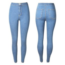 Atacado 2018 mulheres jeans de alta resistência Jeans Skinny lavado Senhoras Novo Estilo Lazer Jeans Inferior