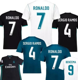blue real madrid s soccer jersey NZ - Thailand Camisa Champion league Real madrid jersey 2018 RONALDO soccer jerseys 17 18 sergio ramos maillot BALE ASENSIO MODRIC football shirt