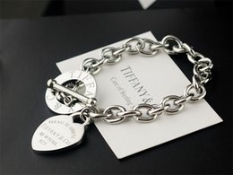 Coral Beads China Australia - High Quality Celebrity design Silverware Gold Chain bracelet Women Letter Heart-shaped Bracelets Jewelry Silver With dust bag Box