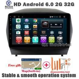 online shopping QZ industrial HD inch Android Car DVD player for Hyundai Tucson IX35 with GPS WIFI G G BT Radio Navigation SWC RDS free map