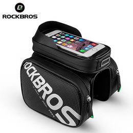 $enCountryForm.capitalKeyWord Canada - ROCKBROS Bike Bag Waterproof Bag For Bicycle Phone Case Bicycle Reflective Front Tube Visor Pannier Accessories