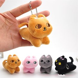 Wedding stuffed animals online shopping - 8CM Kawaii Cat Plush Keychain Doll Cute Stuffed Animal Toy Pendant Wedding Bouquet Gift Hot Sale ll YY