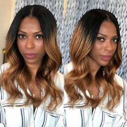 beyonce full lace wigs human hair Australia - Discount beyonce women aaaaaaa 100% unprocessed remy virgin human hair long ombre color loose wave full lace cap wig