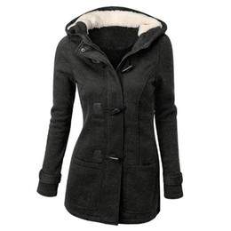 Chinese  European and American fashion winter claw buckle corner buckle coat wool mixed cotton thick long hooded wool jacket cotton coat manufacturers