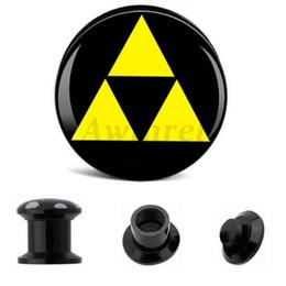 Comercio al por mayor 6mm-25mm Ear Gauge Plugs Triángulos Acrílico Tornillo Fit Flesh Tunnel Plug Eyelet Body Piercing Joyería AW40291