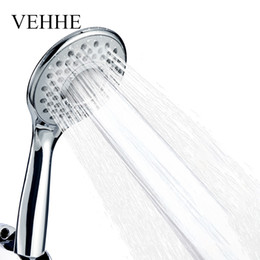 $enCountryForm.capitalKeyWord UK - VEHHE Adjustable Spray Nozzle Silica Gel Holes Water Saving Shower Head Electroplate Squeeze Clean Bathroom Accessories VE202