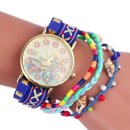 Bicycle Sales NZ - Pretty Hot Sale Professional 1PC Bicycle Tower Pattern Knitting Dial Quartz Casual Wrist Watch Bracelet Watch wholesale Aug3