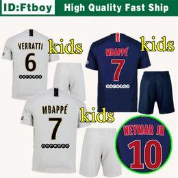 2019 kids kits home away NEYMAR JR PsG new soccer jersey 18 19 MBAPPE CAVANI  MARQUINHOS LUCAS DI MARIA MATUIDI Children 2018 football shirts 0893b88ec