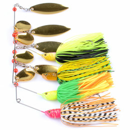 catfish lures 2019 - 4pcs lot Fishing Spinner Bait Rotating Lure Sequined Beard Lures Noisy Buzzbait Composite Spinners Spoon Baits Target fo