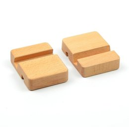 $enCountryForm.capitalKeyWord UK - 100pcs lot Beech Wood Phone Stand Holder For iPhone 6 6s 7 Plus Mobile Phone Stand Universal Wooden Stand Holder For iPhone 6s SN1351