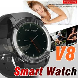 $enCountryForm.capitalKeyWord Australia - Original V8 Smart Watch Bluetooth SmartWatch With Camera SIM IPS HD Full Circle Display Smart Watch For Android System Free DHL