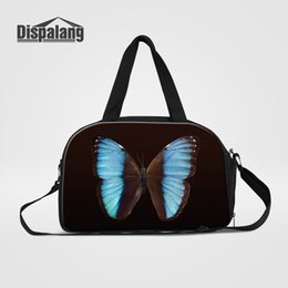 sports girl duffle bag Canada - Women Travel Duffle Bag Butterfly Insect Print Hand Luggage Weekend Bag For Traveling Top Quality Canvas Men's Sport Overnight CrossBody Bag