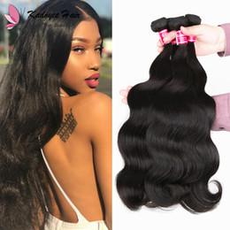 $enCountryForm.capitalKeyWord Australia - Free shipping body wave virgin human hair indian brazilian malaysian peruvian raw original hair weave bundles double machin weft