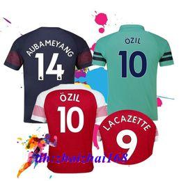 89a789fbb9e 2018-19 Gunners home Away OZIL AUBAMEYANG soccer jersey 18 19 ALEXIS WILSHERE  GIROUD LACAZETTE CHAMBERS XHAKA football shirt free shipping