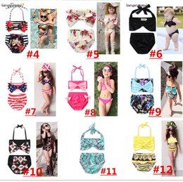 Unicorn Girls Floral Swimwear Halter Rompers Swimsuit Childrens Clothing  Two-Pieces Bikinis Beach Traje de baño One-Pieces 22 Design LC737 01f59928c22