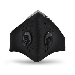 Blue Dust Caps NZ - Sport Dust Filter Bicycle Face Mask Half Face Protective Mask Cool Pollution Cycling Shield Neoprene Smog Pm 2.5