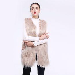 Ladies imitation fur coats online shopping - women imitation fur jacket vest waistcoat fur wool coat for women lady wash plush thick outerwear