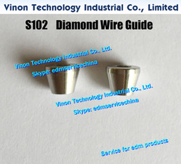 dying machines Canada - d=0.21mm Diamond Dies Guide S102 3080244 edm Upper Dies B for AWT 0.21mm 0200140 for AQ,A,EPOC series wire-cut edm machine wire guide S102