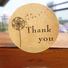 Biscuits pack online shopping - Circular Thank You Dandelion Seal Sticker Baking Packing Biscuit Bag Thanks Stickers Label Paster Home Decor jx gg
