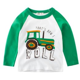 Wholesale New Fashion Autumn Baby Boy Shirt Children s Long Sleeve Car Print T Shirt O Neck Shirt Top Hot Sale Children s Clothing