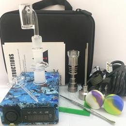 $enCountryForm.capitalKeyWord Australia - 2018 portable Enail dab E nail wax electric dab box PID quartz banger 2in1 14mm 18mm Ti Titanium nails 20mm carb cap