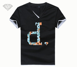 diamond clothes 2019 - Casual Men T Shirt Skateboard Brand Clothing Fashion Short Sleeve T Shirt Diamond Letter Printed New Summer Cotton Stree