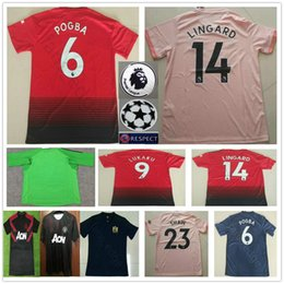 2018 2019 Premier League ALEXIS LUKAKU POGBA MAN FRED UTD LINGARD 10  RASHFORD Soccer Jersey Custom Home Away Thirdly 18 19 Football Shirt cheap  premier ... 54e81e0f4