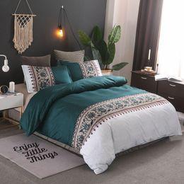 Discount pink floral full size bedding - Simple Floral Bedding Sets Quilt Bed Pillow Duvet Cover Set Single Double King Size 2 3pcs Boho Home Textile No Sheet