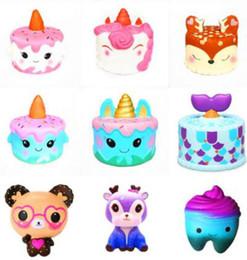 unicorn cakes 2019 - Squishy unicorn cake toys kids reindeer love heart glasses bear teeth shape squishies slow rising soft squeeze cartoon s