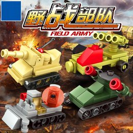 Build Block Minifigures Australia - 8pcs lot Construction car Military Wolf Tooth Field Army Building Blocks military minifigures Toys for Children 3D DIY for Gifts CF-006